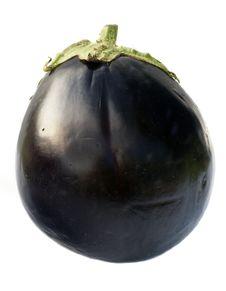 Free Eggplant Isolated On White Stock Photo - 5892500