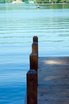 Morning On The Water/Dock Royalty Free Stock Image