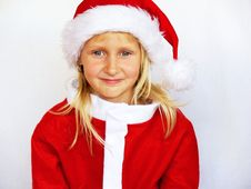 Free Smiling Girl In Santa Hat Stock Photo - 5894640