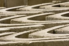Arranged Concrete Drain Blocks Royalty Free Stock Photography