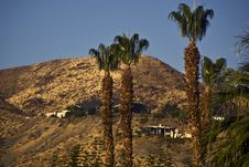 Free Houses On Hills-Palm Springs Stock Photos - 5895613