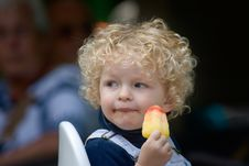 Free Boy Eating Ice Cream Royalty Free Stock Image - 5895926