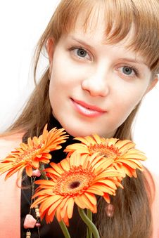 Free Woman And Flower Stock Images - 5896864