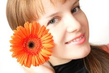 Free Woman And Flower Stock Photo - 5896880