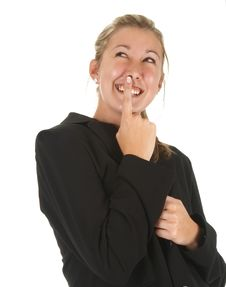 Free Happy Girl Looking Musteriously Up Stock Photos - 5897403
