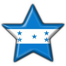Free Honduras Button Flag Star Shape Stock Photography - 5897552