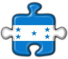 Free Honduras Button Flag Puzzle Shape Royalty Free Stock Images - 5897559