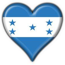 Free Honduras Button Flag Heart Shape Stock Photography - 5897562