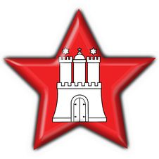 Hamburg Button Flag Star Shape Stock Images