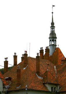 Free Medieval Castle Roof Over Whit Royalty Free Stock Image - 5898466