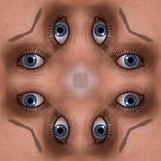Free Many Eyes Seamless Tile Pattern Background 2 Stock Image - 5898761