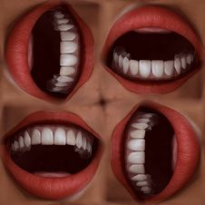 Free Many Mouths Seamless Tile Pattern Background Royalty Free Stock Photos - 5898768