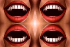 Free Many Mouths Seamless Tile Pattern Background 3 Stock Images - 5898784