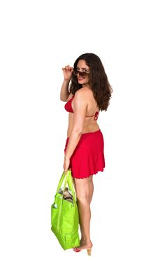 Free Pretty Girl With Sunglasses Going To The Beach Royalty Free Stock Photography - 5898907