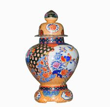 Free Chinese Vase On A White Background Stock Photography - 5899212