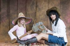 Free Cowgirl Collaboration Royalty Free Stock Photo - 5899245