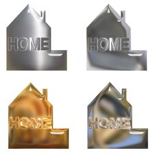 Free Home Chrome Buttons Or Symbols Royalty Free Stock Image - 5899246