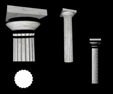 Doric Column Details Stock Images