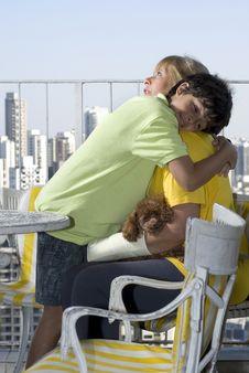 Free Boy Hugging Woman - Vertical Stock Image - 5899611