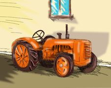 Free Tractor Royalty Free Stock Image - 5899746