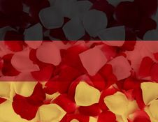Free Germany Flag With Petal Texture Royalty Free Stock Image - 5899816