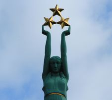 Riga , The Freedom Monument Royalty Free Stock Images