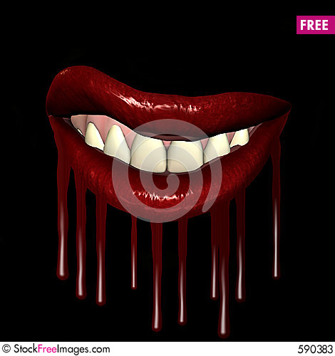 Free Dripping  Lips 3 Stock Photos - 590383