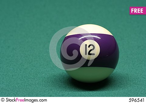 Free Pool Ball Number 12 Stock Image - 596541