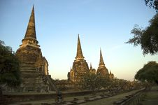 Free Wat Phra Sri Sanphet Royalty Free Stock Photography - 590437