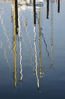 Free Mast Reflections Royalty Free Stock Image - 590946