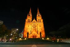 Free Cathedral At Night Royalty Free Stock Photo - 591185