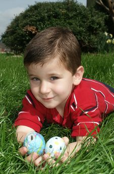 Free Boy With Eggs 10 Stock Photos - 591413