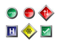 Sign Warning Symbol Stock Images