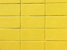 Free Yellow Block Wall Stock Images - 592504