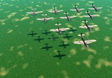 Free Planes Of War 2 Stock Photography - 592792