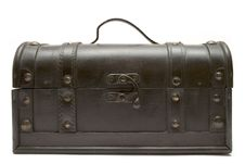 Free Treasure Chest (Front View) Royalty Free Stock Photos - 593878