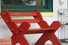 Free Red Bench Royalty Free Stock Image - 593896