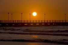 Free Sunset Pier Stock Images - 594694