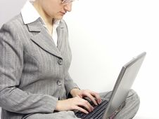 Free Woman With Laptop Royalty Free Stock Images - 596449