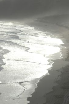 Free Sun Reflecting On Beach Stock Photos - 596553