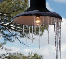 Free Ice Lamp Royalty Free Stock Image - 596716