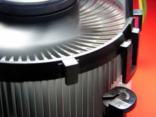 PC Cooling Fan In Action Stock Photography