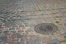 Free Culvert In Paving Stones Royalty Free Stock Photo - 597605