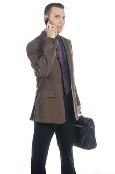 Free Businessman On The Phone Royalty Free Stock Photography - 598477