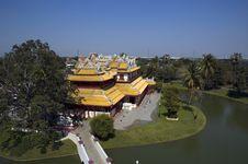 Free Chinese Palace At Bang-Pa In Palace, Ayutthaya (Thailand) Stock Photos - 598533