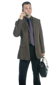 Free Businessman On The Phone Stock Image - 598591