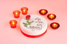 Free Candle Light Cake Stock Photos - 598883