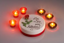 Free Candle Cake Royalty Free Stock Photo - 598885