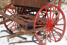 Free Old Horse Drawn Wagon Royalty Free Stock Image - 599886