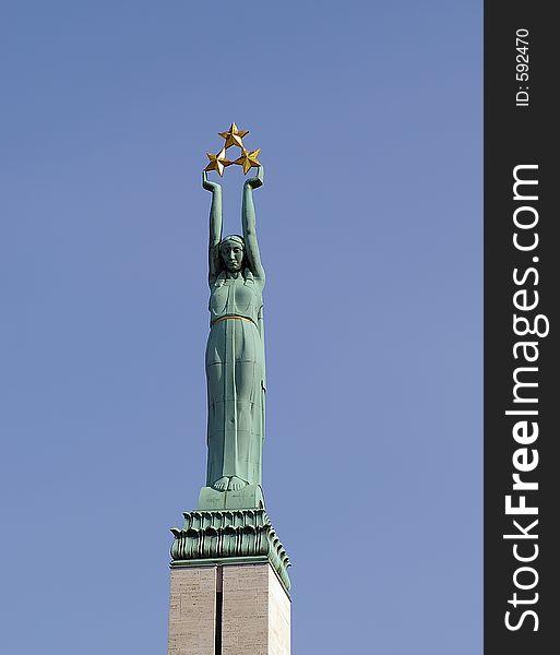 Statue of liberty in Riga